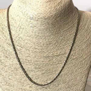 "Monet vintage 18"" silver tone necklace"